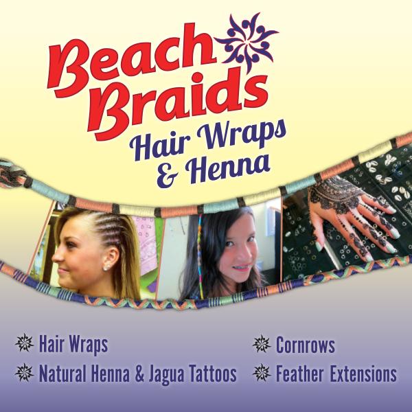 Beach Braids, Hair Wraps & Henna