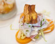 Peruvian Rockfish Ceviche - Bad Bean Baja Grill