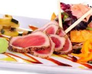 Pepper Seared Rare Tuna Sashimi + Poke - Ocean Boulevard Bistro & Martini Bar