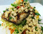 Grilled Local Cobia - Bad Bean Baja Grill