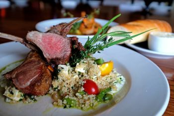 Ocean Boulevard Bistro & Martini Bar, Roasted Six Bone Rack of Lamb