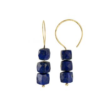 """Jewelry By Gail, """"Abacus Silica - Yellow"""" Lapis Earrings"""