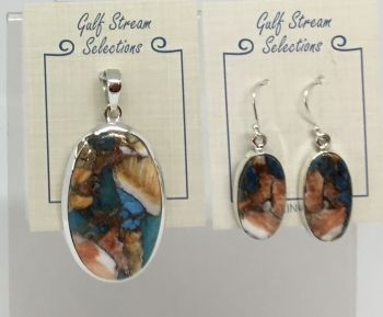 Gulf Stream Gifts, Turquoise infused with spiny oyster shell jewelry