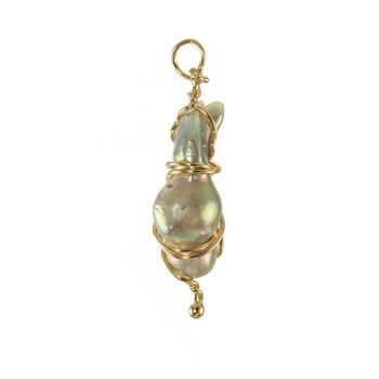 """Jewelry By Gail, """"Emerging Cocoon"""" Pearl Pendant"""