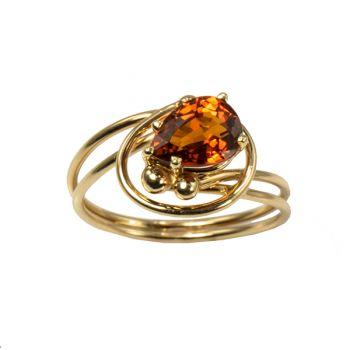"Jewelry By Gail, ""Goosebery"" Grossular Garnet Ring"