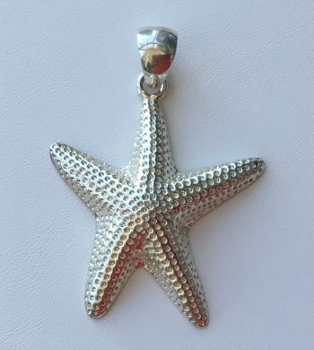 Gulf Stream Gifts, Large Starfish Pendant in Sterling Silver by Charles Albert