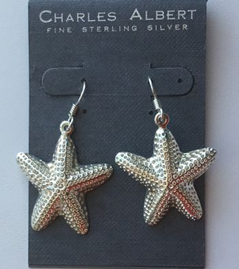 Gulf Stream Gifts, Starfish Earrings in Sterling Silver by Charles Albert