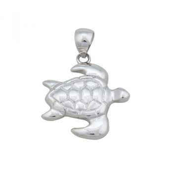 Gulf Stream Gifts, Turtle Pendant set in Sterling Silver by Charles Albert