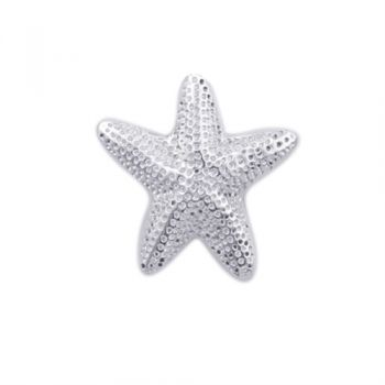 Gulf Stream Gifts, Small starfish sterling silver adjustable ring by Charles Albert