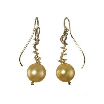 "Jewelry By Gail, ""Indonesian Treasures"" South Sea Pearl Earrings"