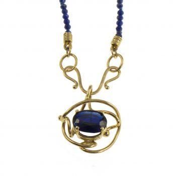 Jewelry By Gail, Deep Blue Sea Kyanite Pendant