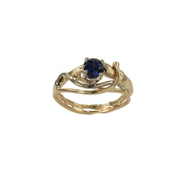 """Jewelry By Gail, """"Midnight Fire"""" Sapphire Ring"""