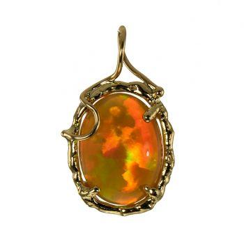 """Jewelry By Gail, """"Molten Fire"""" Ethiopian Opal Pendant"""