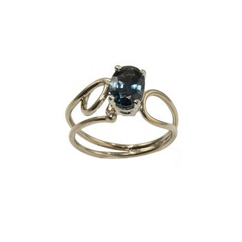 """Jewelry By Gail, """"Peacock"""" Spinel Ring"""