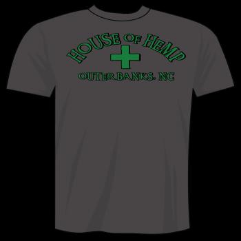 House of Hemp OBX, House of Hemp OBX Logo T-Shirt