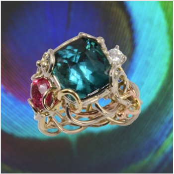 Jewelry By Gail, Tropical Paradise Tourmaline Ring
