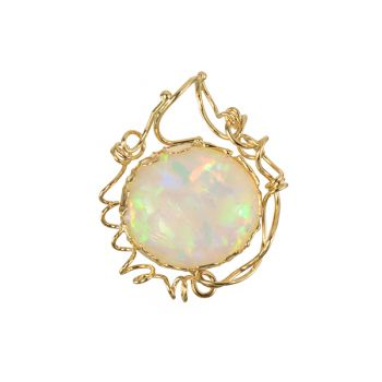 """Jewelry By Gail, """"Volcanic Fire"""" Ethiopian Opal Pendant"""