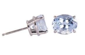 Jewelry By Gail, Winter Ice Aquamarine Earrings