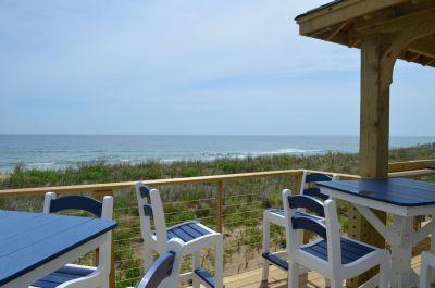 Outdoor deck at Hilton Garden Inn Outer Banks/Kitty Hawk