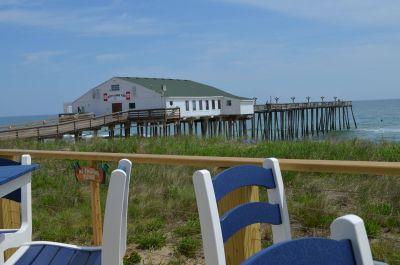 Waterfront deck at Hilton Garden Inn Outer Banks/Kitty Hawk