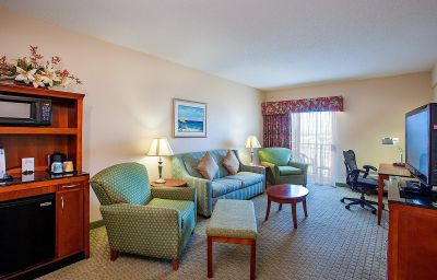 Entertainment area of a Hilton Garden Inn Outer Banks/Kitty Hawk room