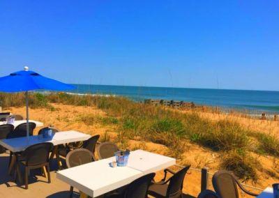 Oceanfront outdoor dining