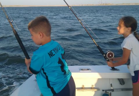 Wanchese Fishing Charters, Half Day Sound Fishing Trip (Evening)