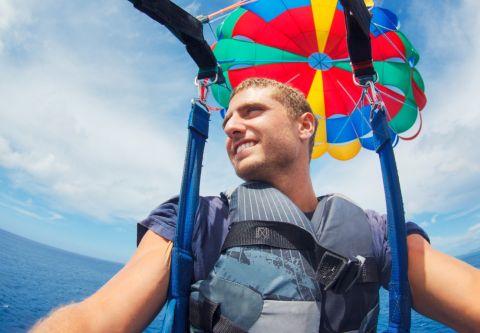 Causeway Watersports, Nags Head Outer Banks, Single Parasail Flight
