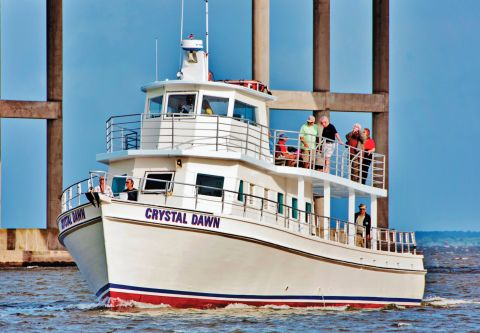 Crystal Dawn Head Boat Fishing and Sunset Cruise, Purple Martin Excursion