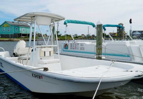 Fishing Unlimited Outer Banks Boating Center, 17 ft. Outboard Boat Rental