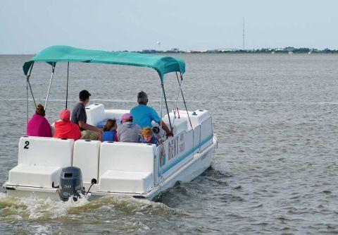 Fishing Unlimited Outer Banks Boat Rentals, 23 ft. Pontoon Boat Rental